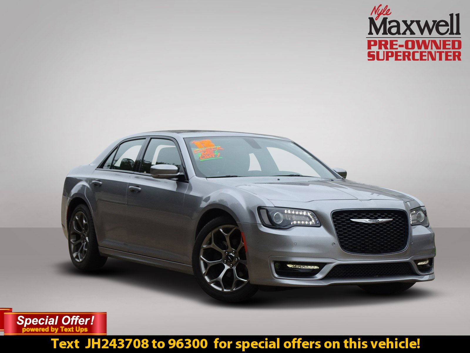 Certified Pre Owned 2018 Chrysler 300 S 4dr Car in Austin JH