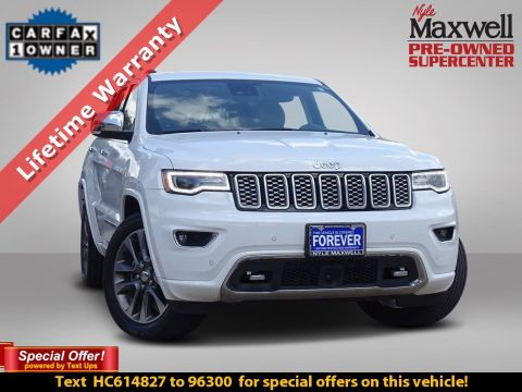 DEALER CERTIFIED 2017 Jeep Grand Cherokee Overland